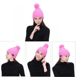 Soft Warm Beanie Hat Wireless Bluetooth Smart Cap Headphone Headset Speaker Mic wool Autumn winter warm Hat