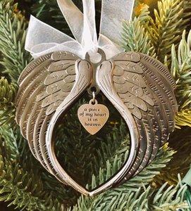 Weihnachtsornamente Engelsflügel Ein Stück meines Herzens ist im Himmel Ornament Mode Accessoires für Weihnachtsbaum