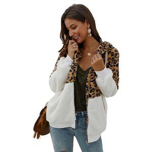 2020 high-end trend new women's original design leopard print stitching jacket women's outdoor top size S-2XL