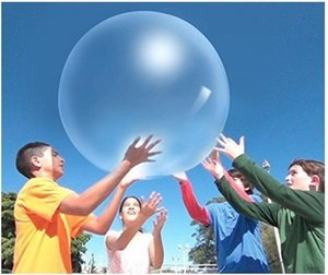 XMY Kids Up Fun Gift Soft Air Water Toy Blow Inflatable Magic Bubble Ball Balloon Party Filled Outdoor Game Qetjr