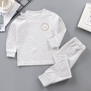 Children's Suit Autumn Clothing New Style Boy's Girls Long Sleeve Thermal Underwear Piece Baby Homewear S4