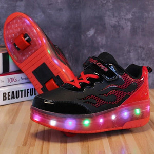 Size 28-39 Roller Skate Shoes for Kids boys girls LED Lighted Wheel Sneakers with Double Wheels Children Glowing Roller Sneakers #kU7N