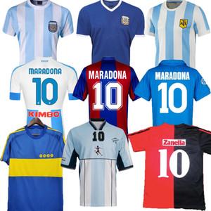 1978 1986 Argentine Maradona Soccer Jersey Retro 82 83 93 94 Newells Vieux garçons 1981 Boca Juniors 87 88 Naples Napoli Football Shirt Thaïlande