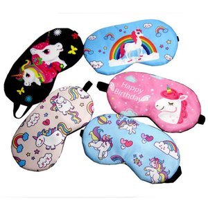 Unicorn EyeMask cartoon eyeshade eye mask rest eye Cover for Girl Kid Teen Blindfold Fashion 5 colors stretchy