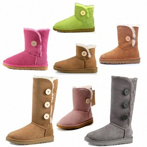 2021 ugg uggs ugglis New Designer Classic WGG Kurzer Bailey Bow Hohe Button Triplet Australien Womens Frauen Boot Winter Schnee Stiefel Pelz Pelz Australier 76pr #
