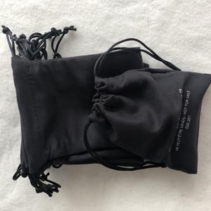 13x10 سنتيمتر الأسود القماش حقيبة الغبار الأزياء التعبئة 2c حزمة سلسلة حقيبة للمجوهرات مزدوجة الجانب المطبوعة تخزين حالة