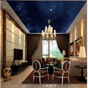 Custom ceiling wallpapers 3d zenith mural wallpaper Beautiful sky dream star ceiling painting background wall papers for living room decor