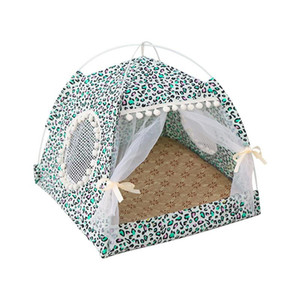 Portable Pieghevole Pet Dog Tent Casa traspirante Stampa Pet Cat Cat Cat Cat House con rete per esterni per esterni Cat Small Dog Tent