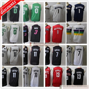 Youth Boys Man Basketball Jayson 0 Tatum Dwyane 3 Wade Jerseys Cheap Kids Kevin Kyrie 7 Durant Irving James 13 Harden Jersey