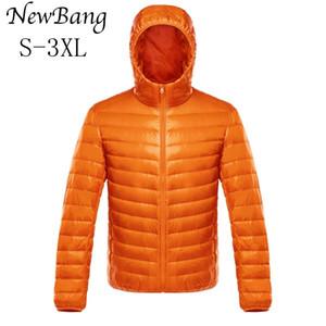 Newbang abrigo abajo masculino ultra luz abajo chaqueta para hombre chaquetas cálidas para hombre Cortavientos Ligero Abrigo Ligero Feather Feather Parka Feather Coat Y1124