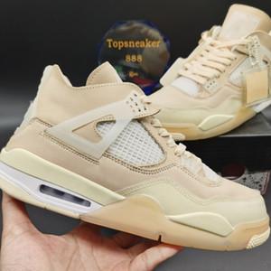 Top Qualité Blanc X Voile Hommes Jumpman 4 4s Chaussures de basketball Kaws Travis Scotts Cactus Jack Cool Gris Femme Formatrice Chaussures