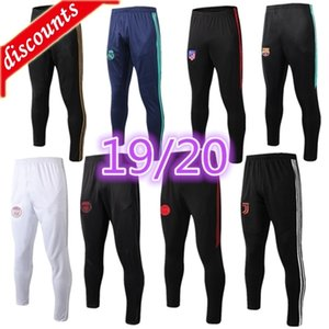 wholesale long pants 2019 2020 marseille soccer pants Real Madrid HAZARD chandal futbol jogging MBAPPE cheap men adult soccer trousers