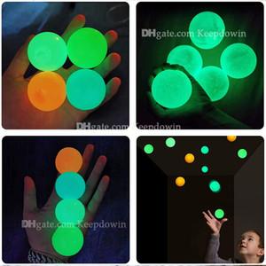 Потолочные шары люминесцентное стресс рельеф липкий шар светящийся палочком к стене свечение в темноте и падать медленно садовые игрушки для детей взрослых