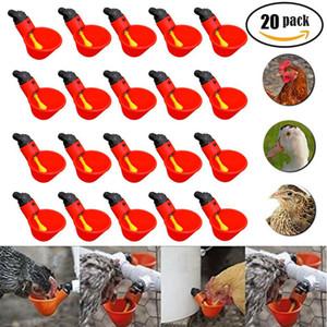 10pcs 20pcs 40pcs Poultry Água Potável Hen Copos plásticos Aves Frango Bebedor automático