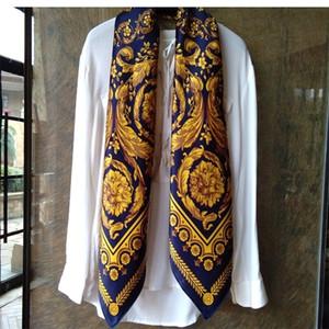 Women 100% Silk Scarf Shawl Foulard Luxury Soft Soomth Touching 108*108cm LJ200911