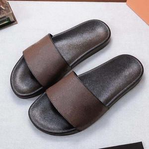 Femme / homme Sandal pantoufles de haute qualité Pantoufles de sandale Beach Causal Hommes Femmes Slipper Plat Chaussures Slide UE: 35-45 avec boîte 09