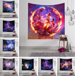 Resim Bohemian Plaj Havlusu Masa Örtüsü Battaniye deniz yolu FWA2393 Asma 150 * 130cm Şaşırtıcı Gece Starry Sky Yıldız Goblen 3D Baskılı Duvar