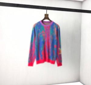 2020 outono e inverno novo pescoço redondo de alta qualidade pulôver arco-íris limitado estrelado jacquard de malha camisola de importação