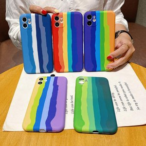 Rainbow Silicone Phone Case For iphone 7 8 Plus Xs Max XR SE iphone 11 12 Pro Max Mini Luxury Colourful Soft Cover