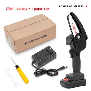 550W 24V mini cadeia elétrica viu uma mão carpintaria de lítio bateria de poda de poda de moedas de madeira cortador sem fio jardim recarregável ferramenta