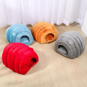 2020 Cute Winter Warm Cat Nest Honeycomb Shape Semi-enclosed Cat House Small Dog Kennel Pet Supplies