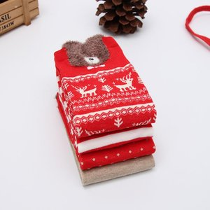 Hot Selling Men And Women Christmas Cotton Socks Cartoon Santa Claus Cute Comfortable Striped Socks Wholesale 2020 New Products