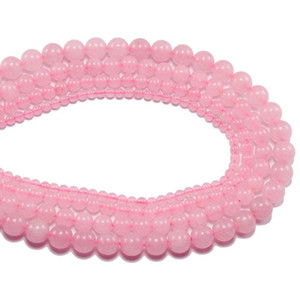 1strand Lot 4 6 8 10 12 Mm Rose Pink Quartz Crystal Stone Round Beads Loose Spacer Bead For Jewelry Making Diy Necklace Bracelet H bbyNgo