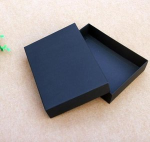 10pcs lot High Quality Blank Gift Packing Box Black Clothes Storage Box Large Size Cardboard Package Silver Custom