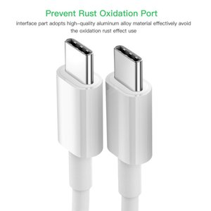 USB C to USB Type C Cable for Xiaoyi Redmi Note 8 Pro Quick Charge 4.0 PD 60W Fast Charging for MacBook Pro S11 Charger Cable
