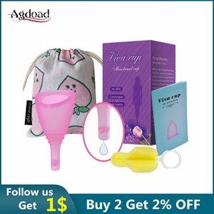 Dropshipping Mensrual Cup Medical Silicone Женская гигиена Менструальный период COPA Менструальные вагинальные чашки предотвращения утечки боковой утечки
