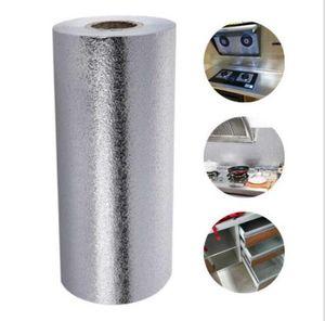 Aluminum Foil Wallpapers Waterproof Thicken Wallpaper 3D Oil Moisture Dust Proof Kitchen Supplies DHC86