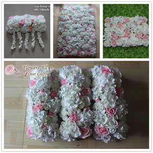 flowers all over gulf New artificial rose and hydrangea flower wall for wedding backdrop decoration row