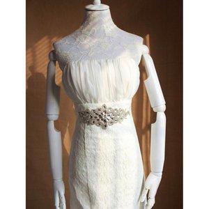 Missrdress Crystal Bridal Belt Handmade Rhinestones Wedding Belt Silver Diamond Wedding Sash For Bridal Accessories