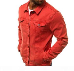 Fashion-New Designer Mens Denim Jacket Slim Men Denim Jacket Solid Male Jean Jackets Men Cowboy Outwear Clothing Hip Hop Streetwear