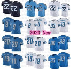 Hombres 22 Derrick Henry 20 Barry Sanders Matthew Stafford Hockenson Kerryon Johnson Football Jerseys
