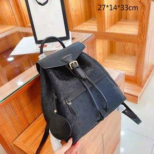 2021 Lüks Kadın Çantalar Çantalar Moda Tasarımcılar Sırt Okul Çantaları Omuz Çantası Klasik Öğrenci Çantaları Kabartmalı Çiçekler L21011102