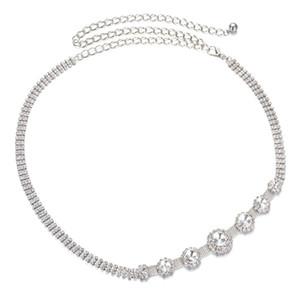 Fashion Diamante Crystal Waist Chain Belt for Wedding Dress Belly Dance Jewelry Bikini Beach Jewelry Dresses Decor