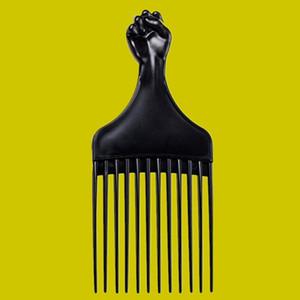 Pugno Afro Capelli Piccoli Parrucca Pennello Commercio all'ingrosso Black Plastic Plastic Uomini Barba Grooming Hair Salon Shop Anniversary Company Company Regalo