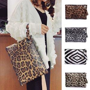 Kadınlar Wristlet Çanta Boy Çanta Leopard Baskı PU Deri Gece Çantası Kılıfı İyi Satış-WT Q1117