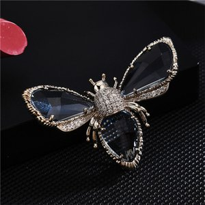 Insect Series Brooch Women Delicate Little Bee Brooches Crystal Rhinestone Pin Brooch Jewelry Gifts For Girl