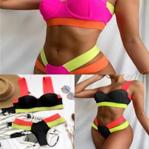 Yws Women Black Up swimwear designer Set Letter Print Swimsuit Biquini Bandage high quality Push Swimwear Bikini Women Female Swimming