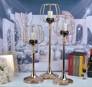 Luxury Tall Candlestick Candle Holders Table Centerpieces Candelabra Ornaments Candle Rack For Wedding Hotel Bar Birthday Living Room Home