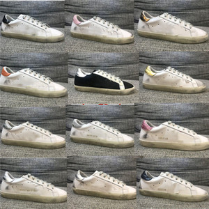 Sneakers Superstar Do-old Dirty Sports Shoes Golden fashion Men Women Casual Shoes White Leather Suede Flat Shoes Big size 35-44