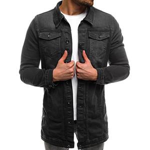 Hommes Basic Veste Coat automne hiver manches longues Vintage en détresse Demin Jacket Top manteau Outwear Windbreaker