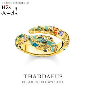 Golden-colored Magical olha anel de cobra, estilo europa moda clássico bom jewerly para mulheres, 2020 presente em 925 prata esterlina y1119