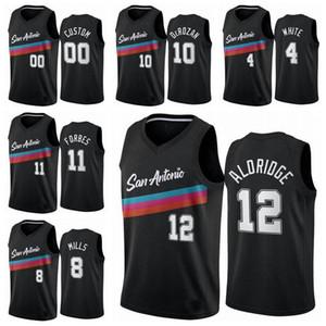 San AntonioÉperonsHommes 10 DemarDerozan 12 LamarcusAldridge 2020/21 Swingman Basketball Jersey Icon Edition