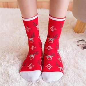 Men Women Cotton Cartoon Christmas Socks Cute Santa Claus Elk Snow Hip Hop Funny Sock Happy Winter New Year Socks Christmas Gift