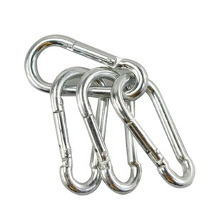 Free Shipping 5PCs Safety Buckle High Quality Climbing Button Carabiner Camping Hiking Hook Bearing Carabiner