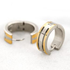 Sunshine Jewelry Stainless Titanium Steel Hollow Petals Women Earrings
