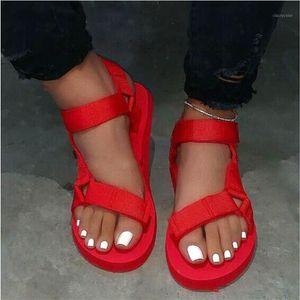 Sandalias Mujer Summer Soft Slip Sandals Women Buckle Strap Foam Sole Durable Sandals Ladies Outdoor Casual Beach Shoes Woman1